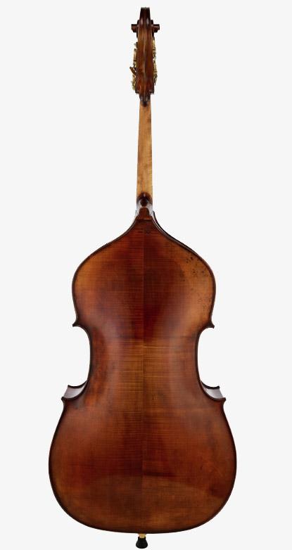 深色古典低音提琴背板
