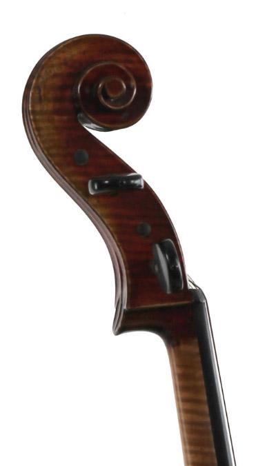 深色大提琴琴头