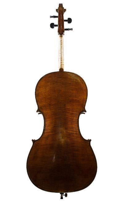 褐色仿古大提琴