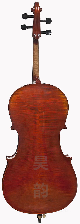 虎纹手工4/4大提琴
