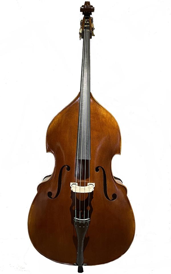 圆角深色仿古低音提琴