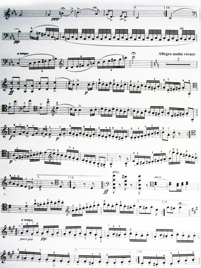 大提琴曲谱