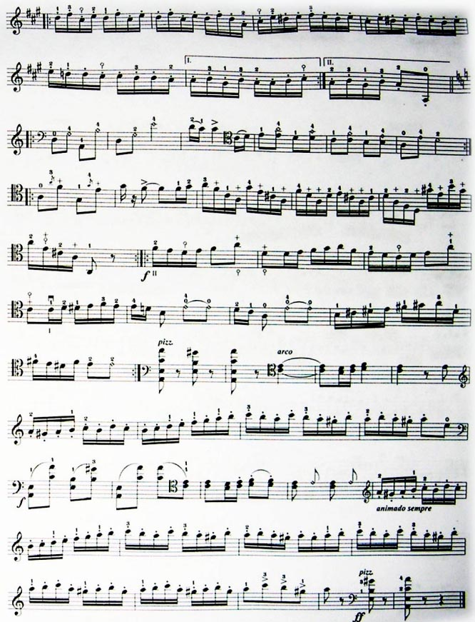 《吉普赛之歌》大提琴曲谱