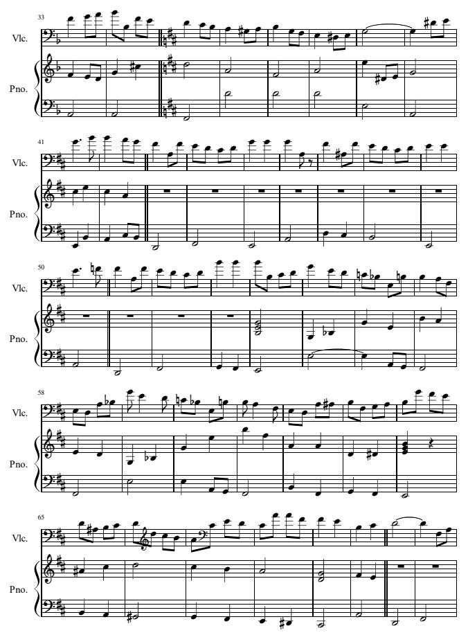 《爱的礼赞》大提琴谱