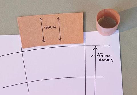 大提琴尾柱安装1.创建纸质模板