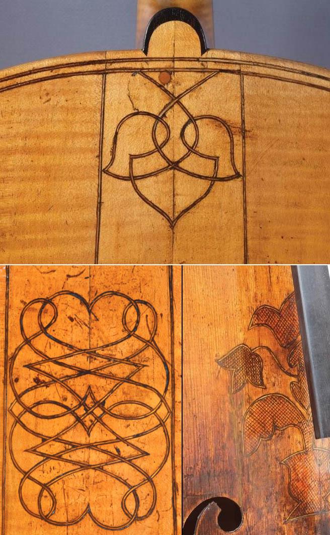 面板和背板的雕花装饰