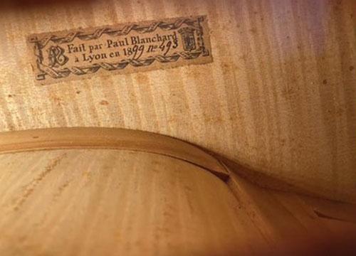 保罗布兰查德1899年大提琴内标签