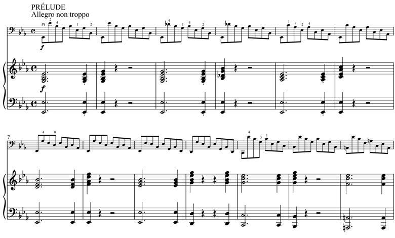 巴赫第四大提琴组曲前奏曲开幕,舒曼钢琴伴奏