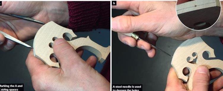 防止大提琴琴码变形的方法