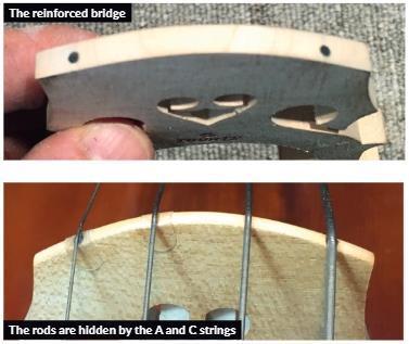 防止大提琴琴码变形
