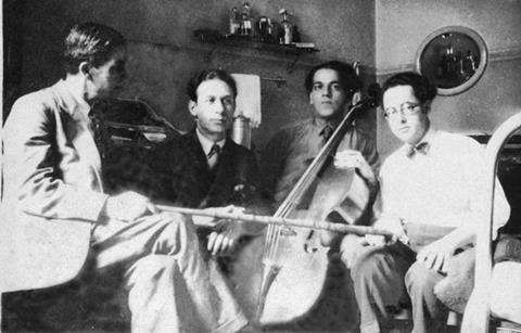 维拉·罗伯斯和他的大提琴,以及巴西作曲家兼指挥家兼钢琴家苏扎·利马