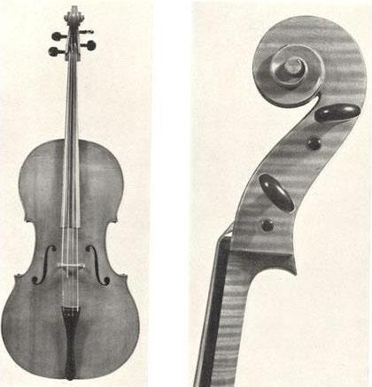 那不勒斯的 Gennaro Gagliano 的大提琴