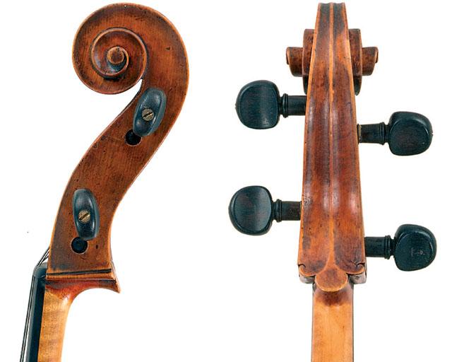 亚历山德罗·加利亚诺1724 年大提琴琴头展示