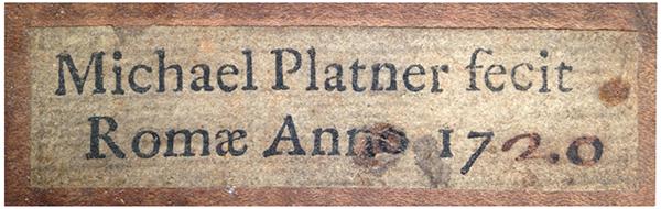 Michele Platner 1720 大提琴