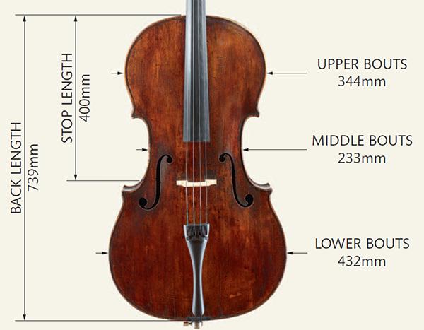 Goffriller大提琴尺寸图