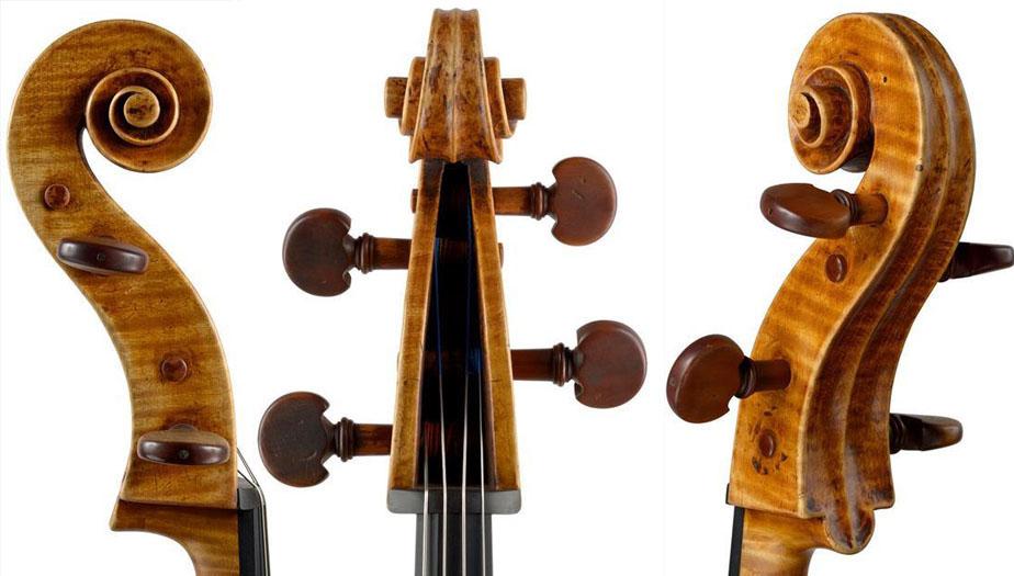 特克勒大提琴琴头
