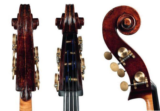 乔治·克拉斯克 c.1850低音提琴琴头